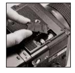 Battery compartment cover for Bronica GS-1