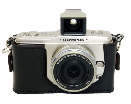 Hand-made leather camera case for Olympus E-P1