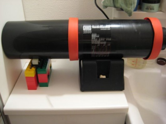 Jobo 2850 print drum on Uniroller with some help of Duplo blocks