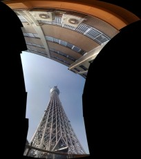 One of my son's panoramas from a visit to the then under construction Tokyo Sky Tree in May, 2011