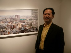 Shintaro Sato with a small part of one of his new panoramas
