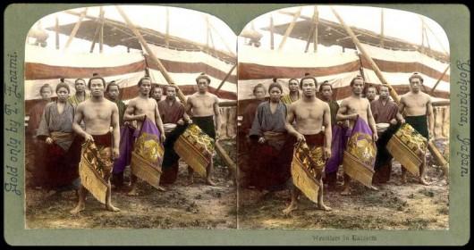 Japanese Wrestlers by T. Enami