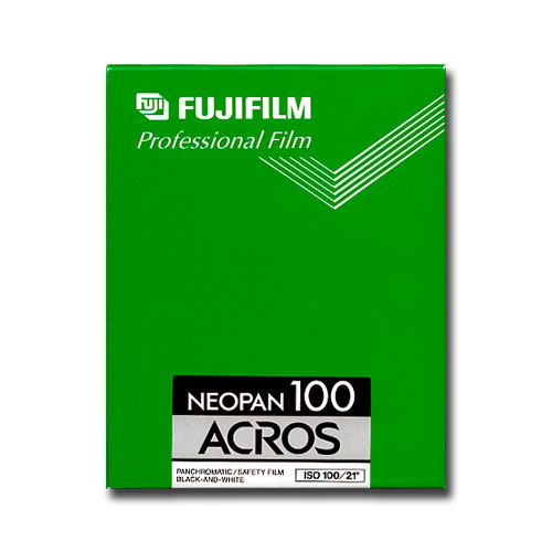 "Neopan Acros 4""x5"" sheet film"